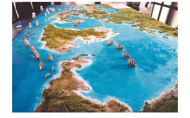 Maqueta de la batalla de Cartagena de Indias