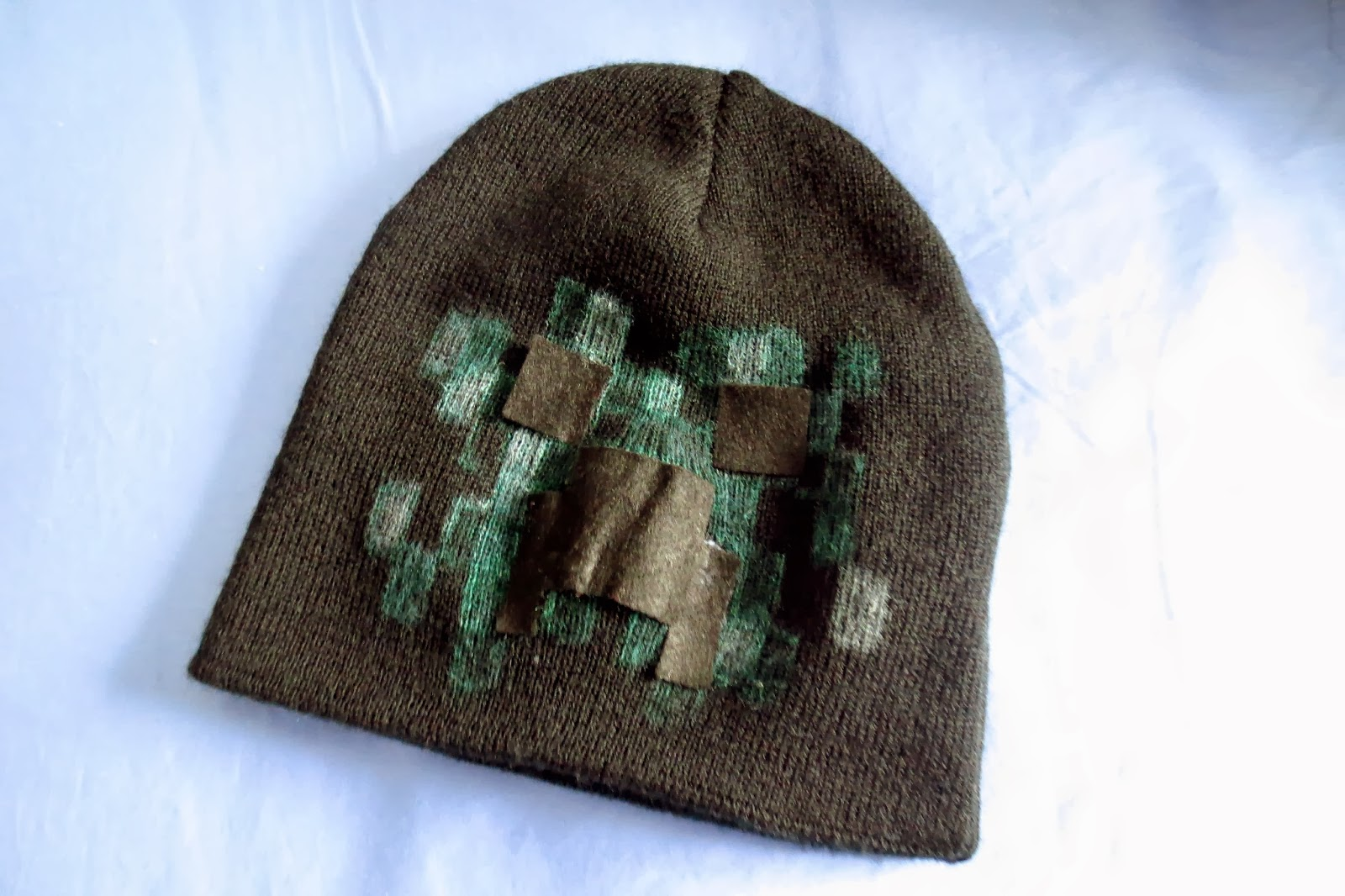 DIY Minecraft Creeper Beanie