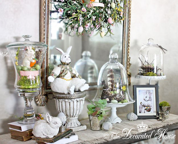 The decorated house a little more easter decorating for Easter decorations ideas for the home