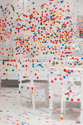 Kids a White Room and Thousands Of Stickers