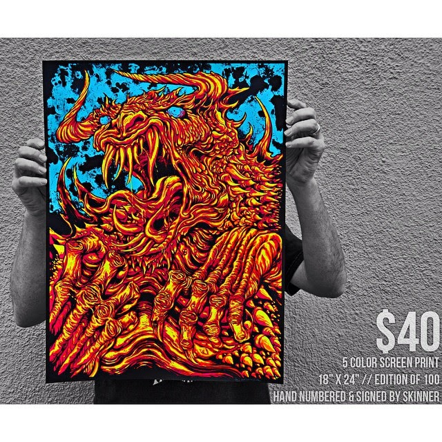Tarrasque Screen Print by Skinner