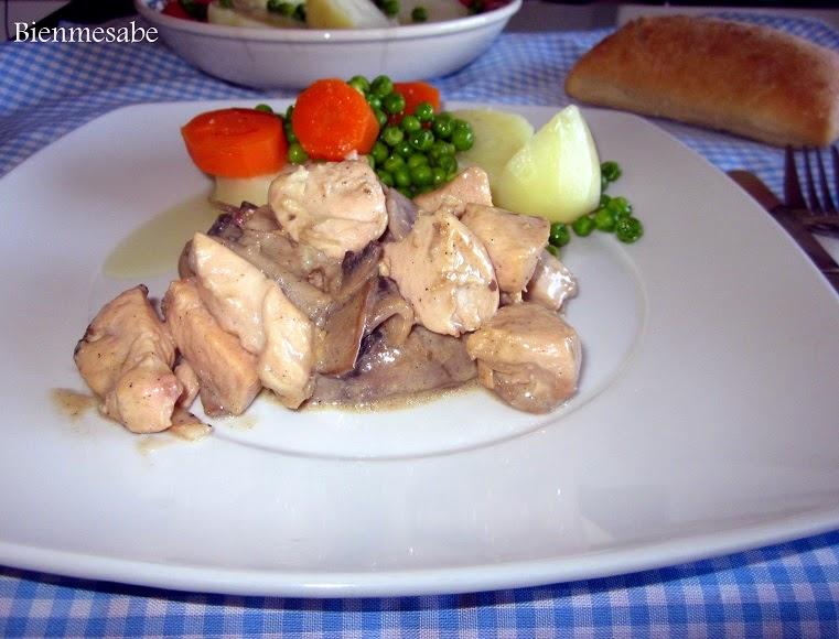 pollo con nata