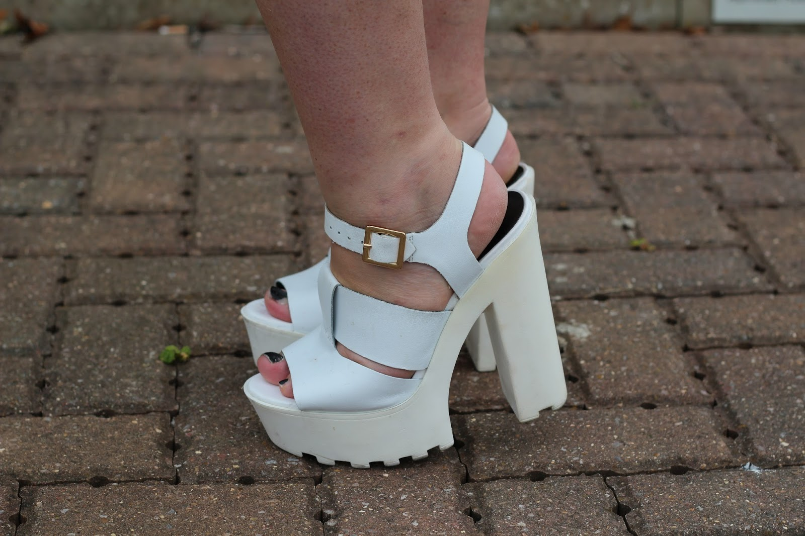 River Island White Cleated Sole Platforms