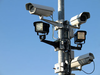 CCTV Camera, surveillance Camera on the Road