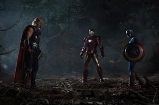 Os Vingadores - Thor, Homem de Ferro e Capitão América