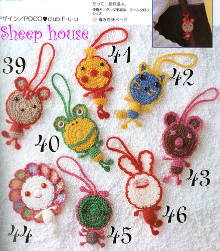Llaveros de Crochet de Munecos - Patrones Crochet
