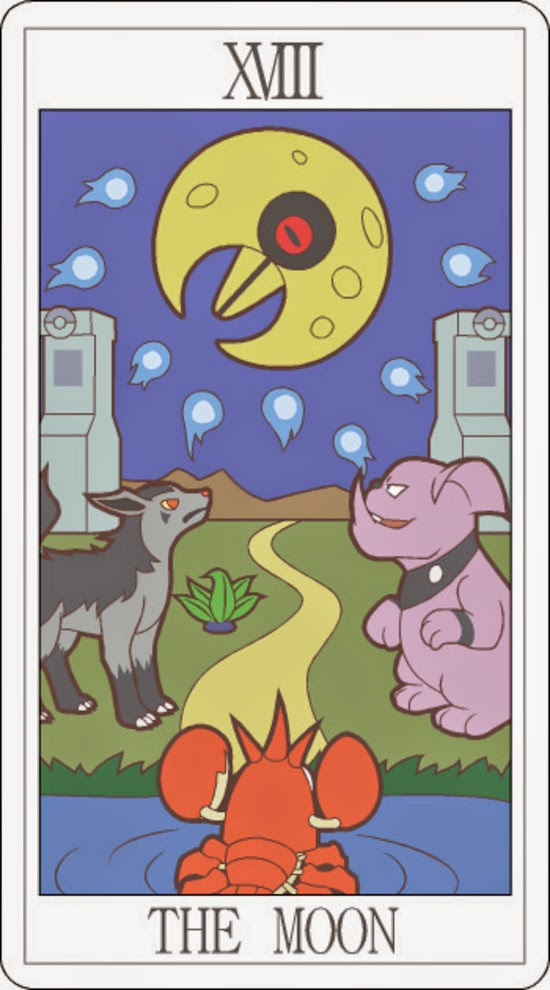 Pokemon Tarot - The Moon