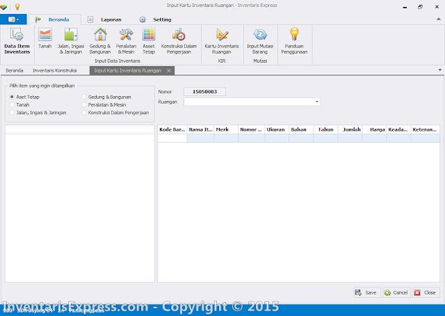 Input Data Inventaris Konstruksi dalam Pengerjaan (KIB F) - Software Inventaris Express