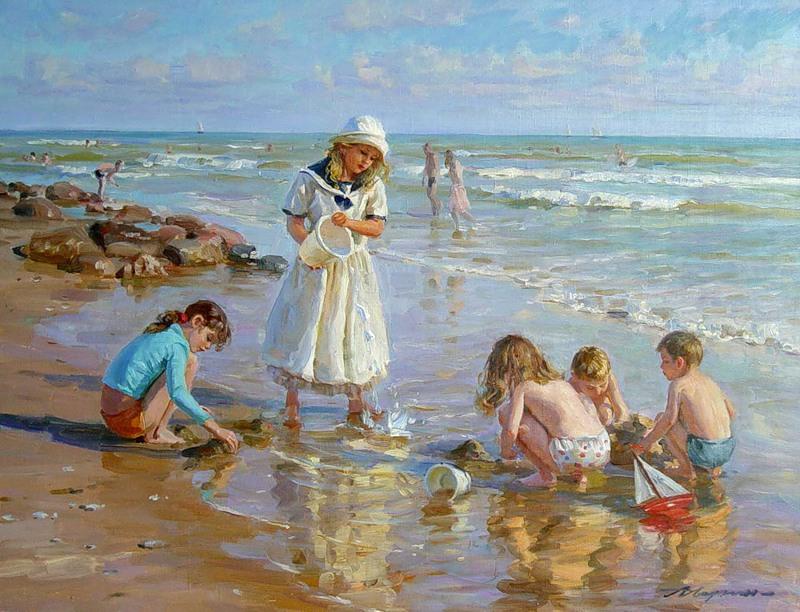 Assez Il mondo di Mary Antony: I dipinti realistici stile impressionista  JP57