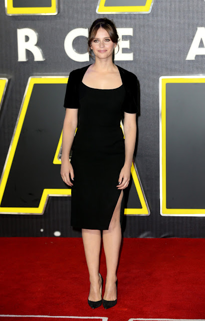 "Actress, @ Felicity Jones - European Premiere of ""Star Wars: The Force Awakens"" in London"