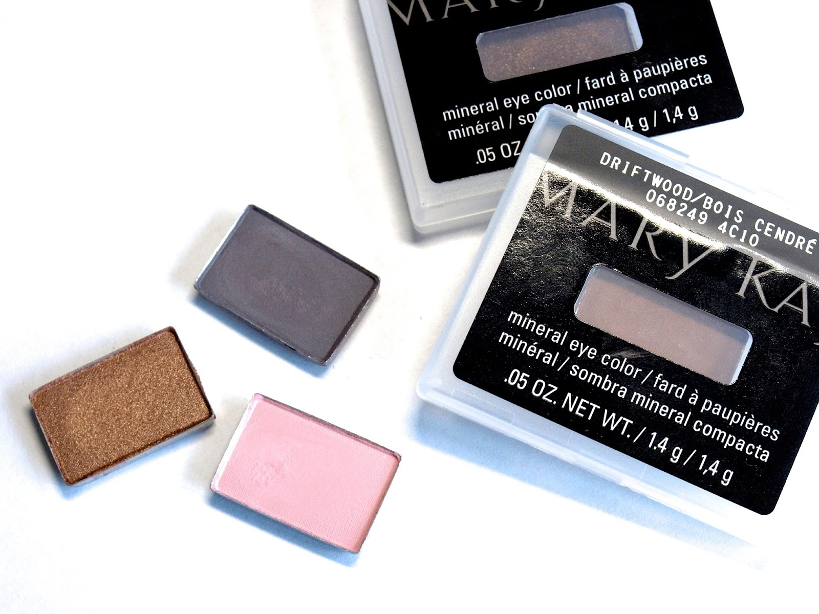 mary kay mineral eye color eye shadow review swatches stone ballerina pink french toast rosegold driftwood