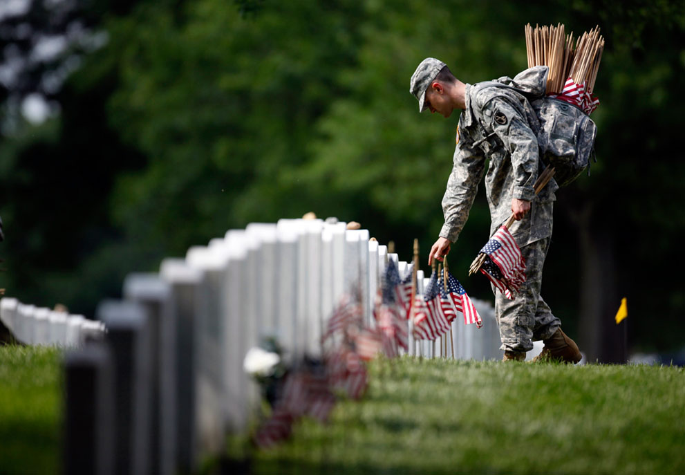 Soldier at Arlington Cemetery