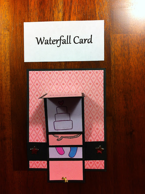 water-fall-card-wedding-pink-cute-cake
