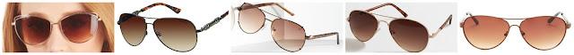 AJ Morgan Eyewear Sweet Baby Forecast Sunglasses $13.99 (regular $19.99)  Liz Claiborne Alpine Aviator Sunglasses $15.99 (regular $32.00)  Simply Vera Want Metal Aviator Sunglasses $17.99 (regular $34.00)  J. Crew Factory Ombre Lense Aviator Sunglasses $19.50 (regular $29.50)  BCBGMAXAZRIA Aviator Sunglasses $39.97 (regular $89.00)