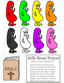 NEW Jelly Bean Prayer Cutout Activity