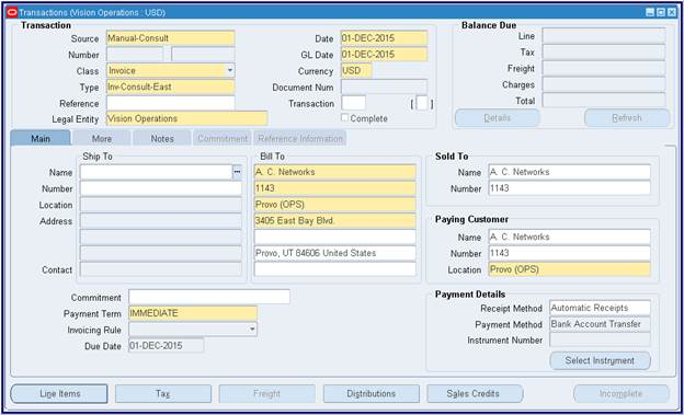 Oracle Applications Oracle Account Receivable AR Functional – Bill Receivables