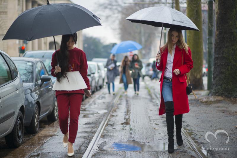 Oksana On and Maria Kolosova attend Gucci 2014 Fall Winter Show at Milan Fashion Week MFW