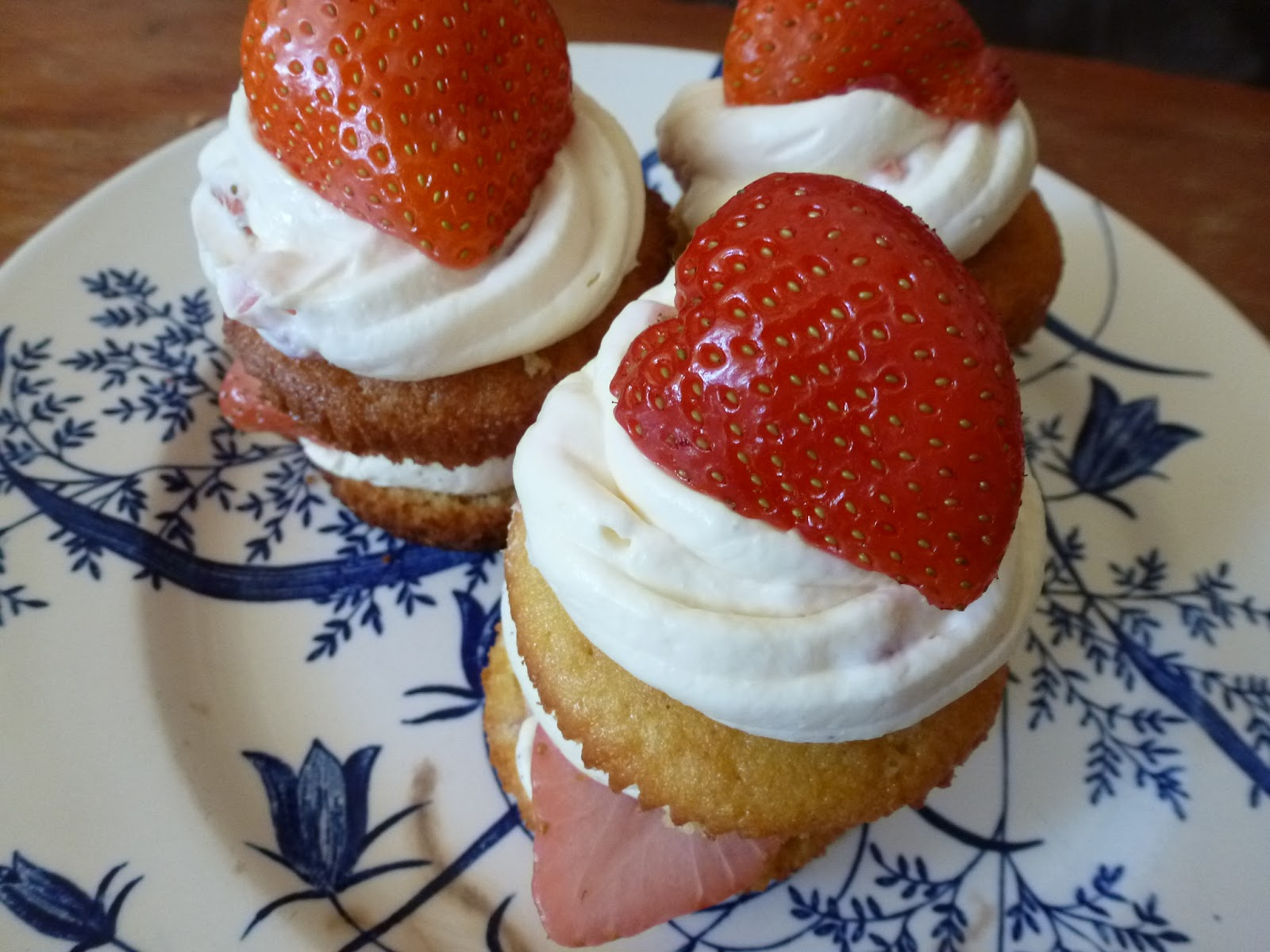 Vanilla Cupcakes with Vodka infused Strawberries, Vanilla Bourbon ...