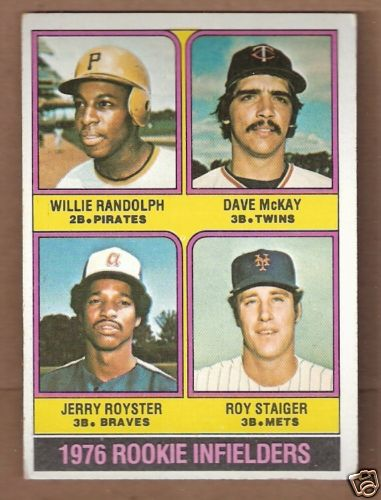 Willie Randolph 1976 baseball card
