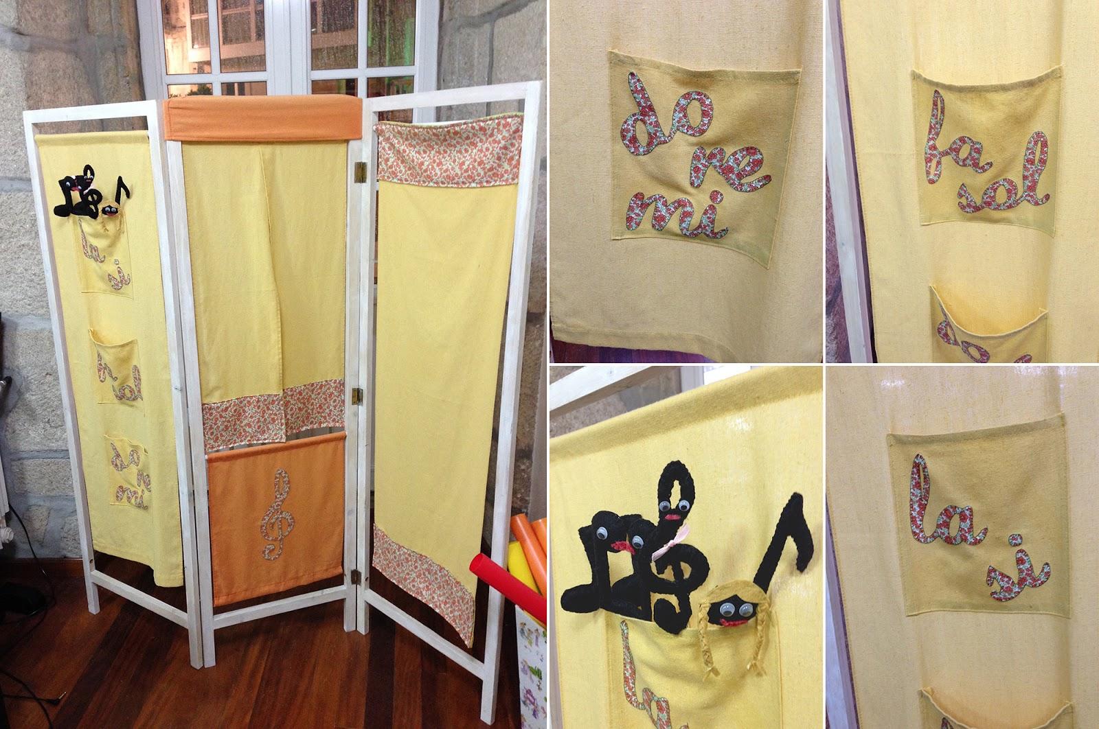 Decoraci n escuela de m sica biombo teatrillo tallerdeluna for Escuela de decoracion