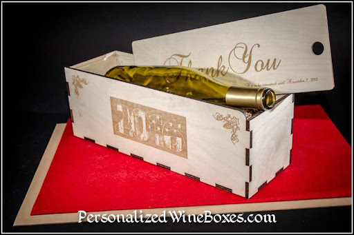 wood wine box, wine gift, appreciation gift, thank you gift