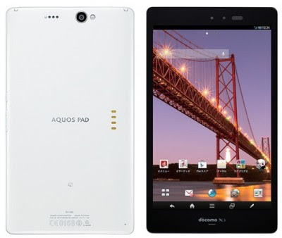 Sharp Aquos Pad SH-08E harga dan spesifikasi, Sharp Aquos Pad SH-08E price and specs, images-pictures tech specs of Sharp Aquos Pad SH-08E