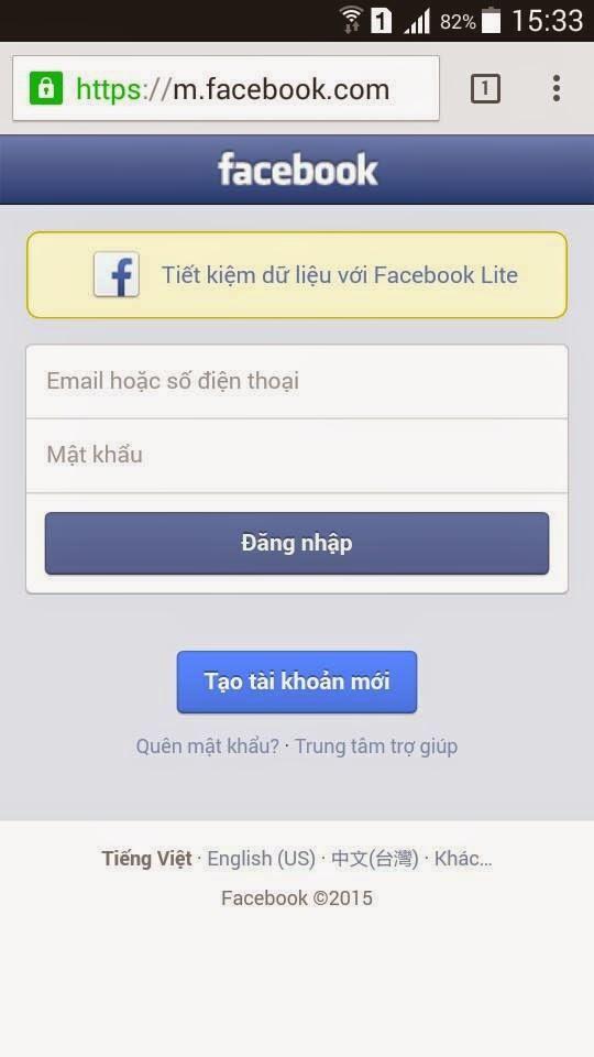 Dang ky nick Facebook bang so dien thoai