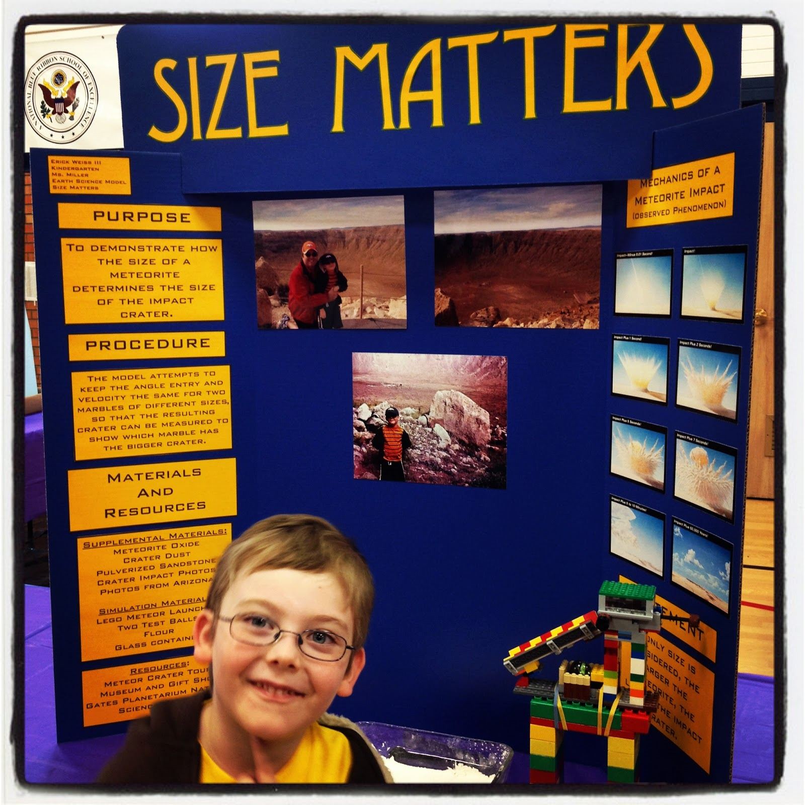 Creative Science Fair Boards High School Very hard on his project.