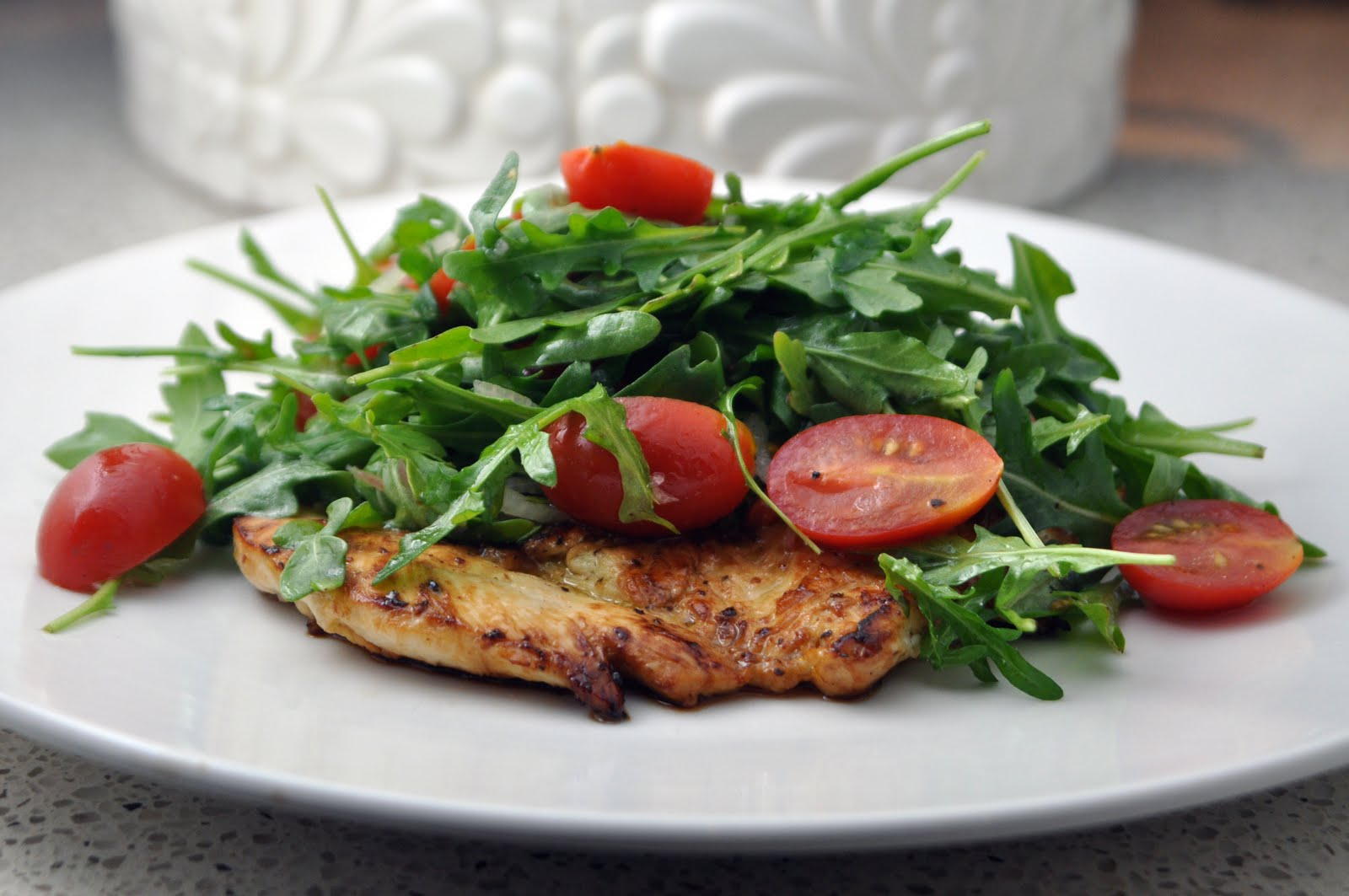 Impeccable Taste: Chicken Paillard with Arugula & Tomato Salad
