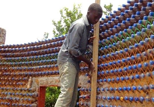 First Plastic Bottle House Rises
