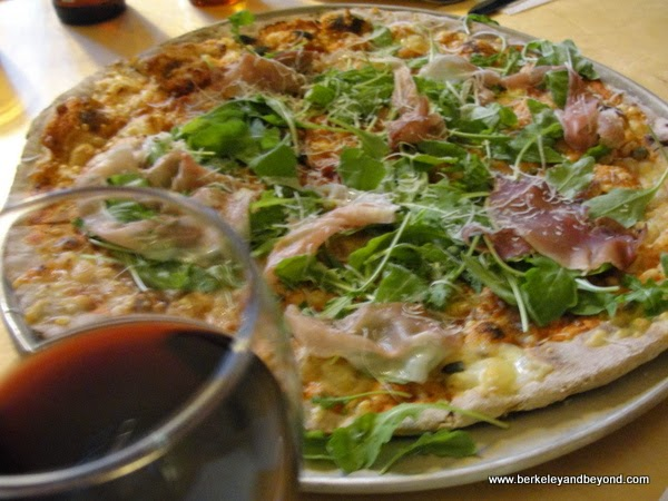pizza at Skaftfell Bistro in Seydisfjordur in northeast Iceland