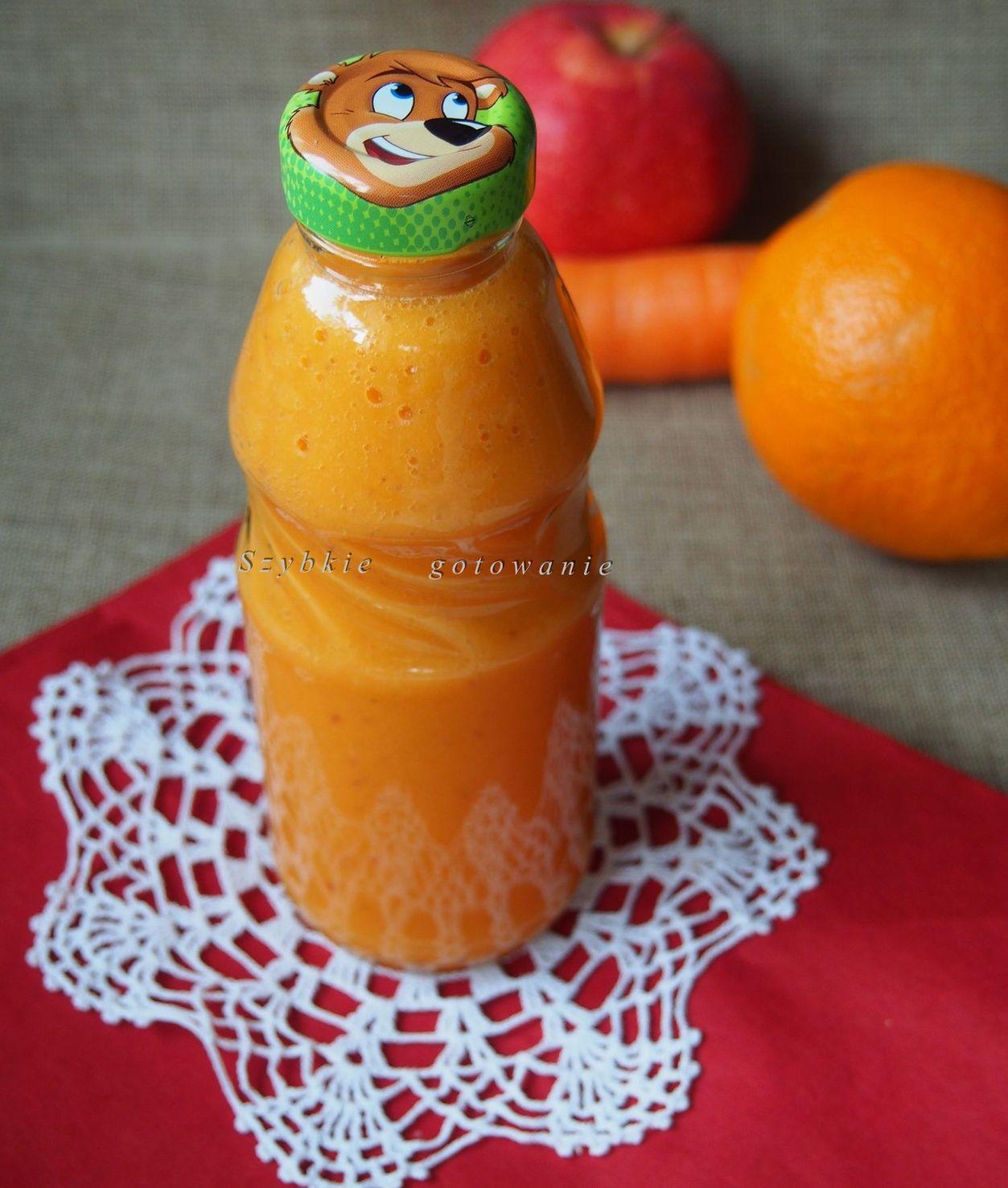 Domowy sok Kubuś jabłko pomarańcz marchew