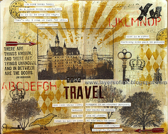 Layers of ink: Time Travel Art Journal Page