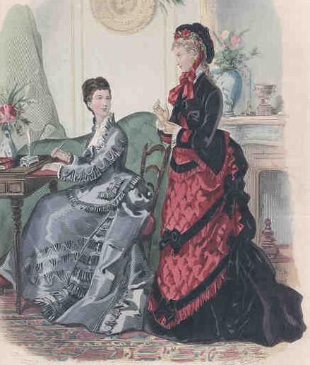 1870s Bustle Dress