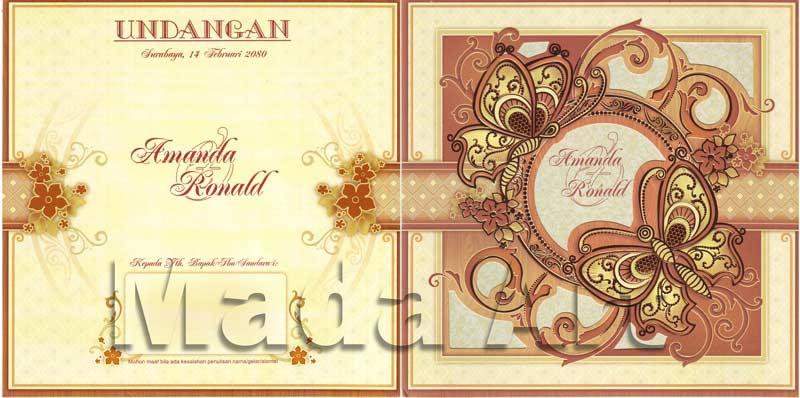 Kartu undangan pernikahan - Lion L81