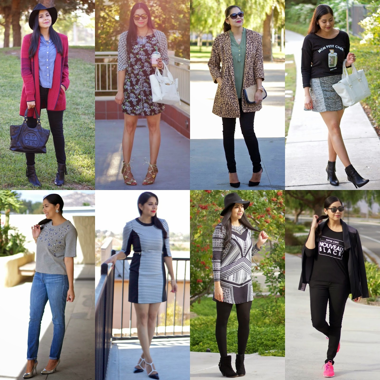 outfit recap, october 2014 outfit recap, san diego blogger, san diego fashion blogger, san diego style blogger, socal fashion blogger, socal blogger, sd blogger, california blogger, latina blogger, west coast blogger