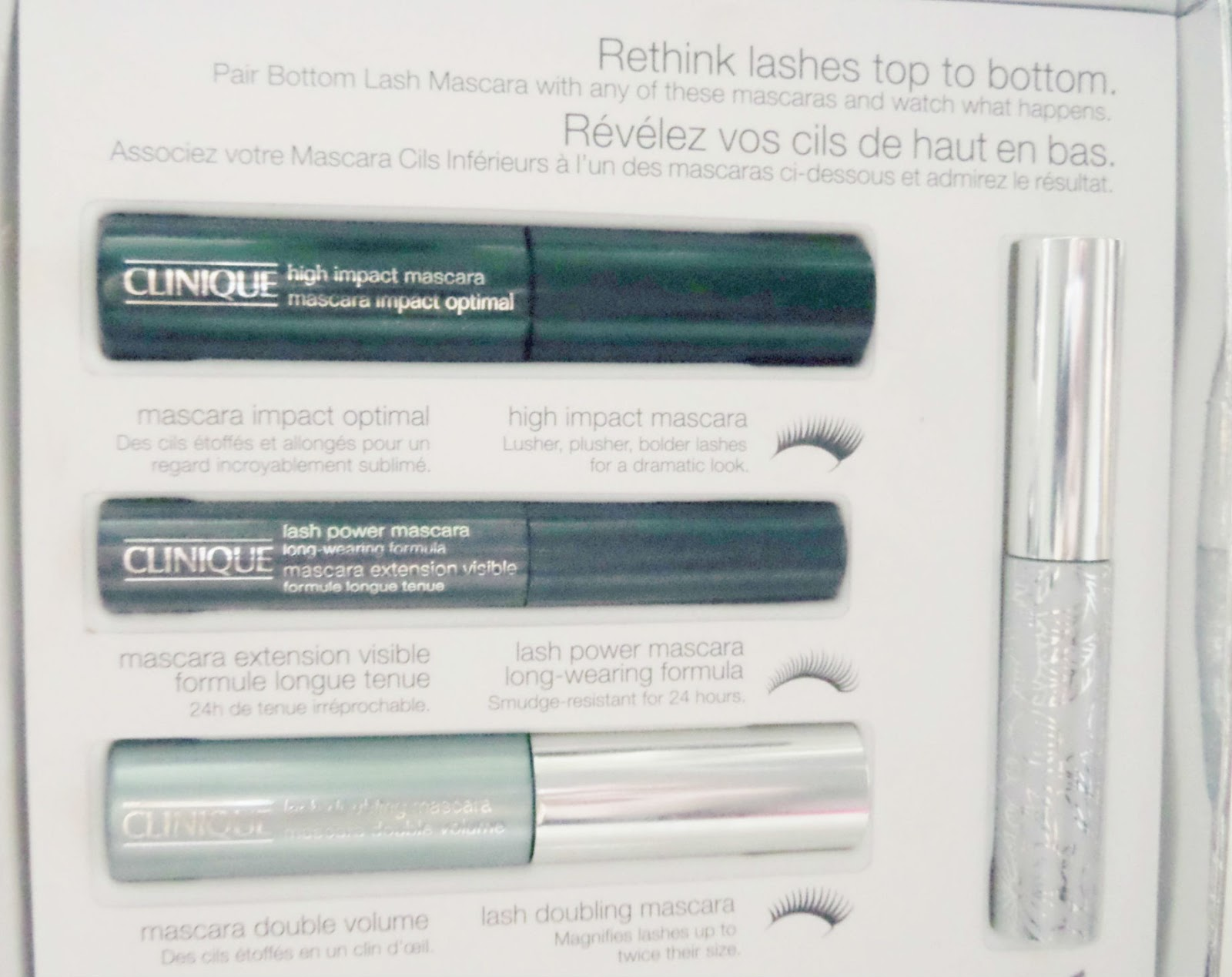 Clinique Lashes Top to Bottom Gift Set Review