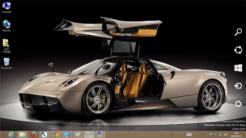 Pagani Huayra Theme For Windows 7 8 9 Blue