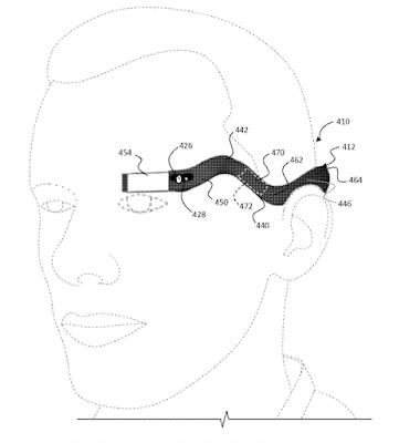 new-patent-show-shape-2nd-generation-glasses-googleبراءة إختراع جديدة تظهر شكل الجيل الثاني من نظارات جوجل