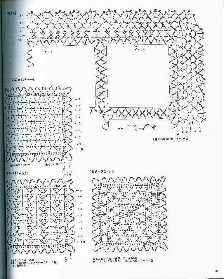 Схема вязания пледа мишки 756