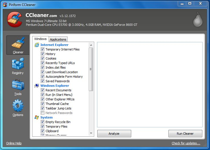 WatFile.com Download Free of ccleaner download ccleaner v4 03 4151 download ccleaner screenshots