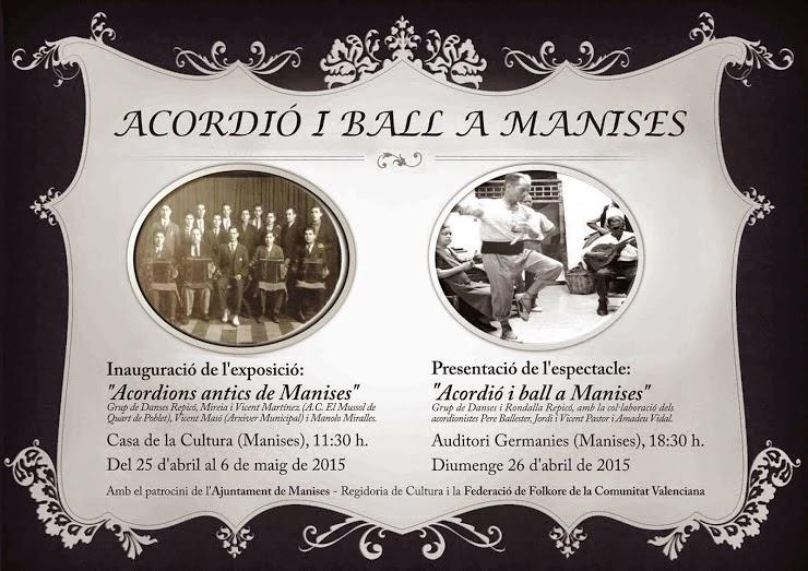 EXPOSICIO D'ACORDEONS I CONCERT DEL GRUP DE DANSES REPICÓ DE MANISES