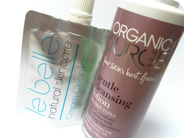 A picture of Le Belle Natural Skincare Cream Cleanser and Organic Surge Gentle Cleansing Lotion