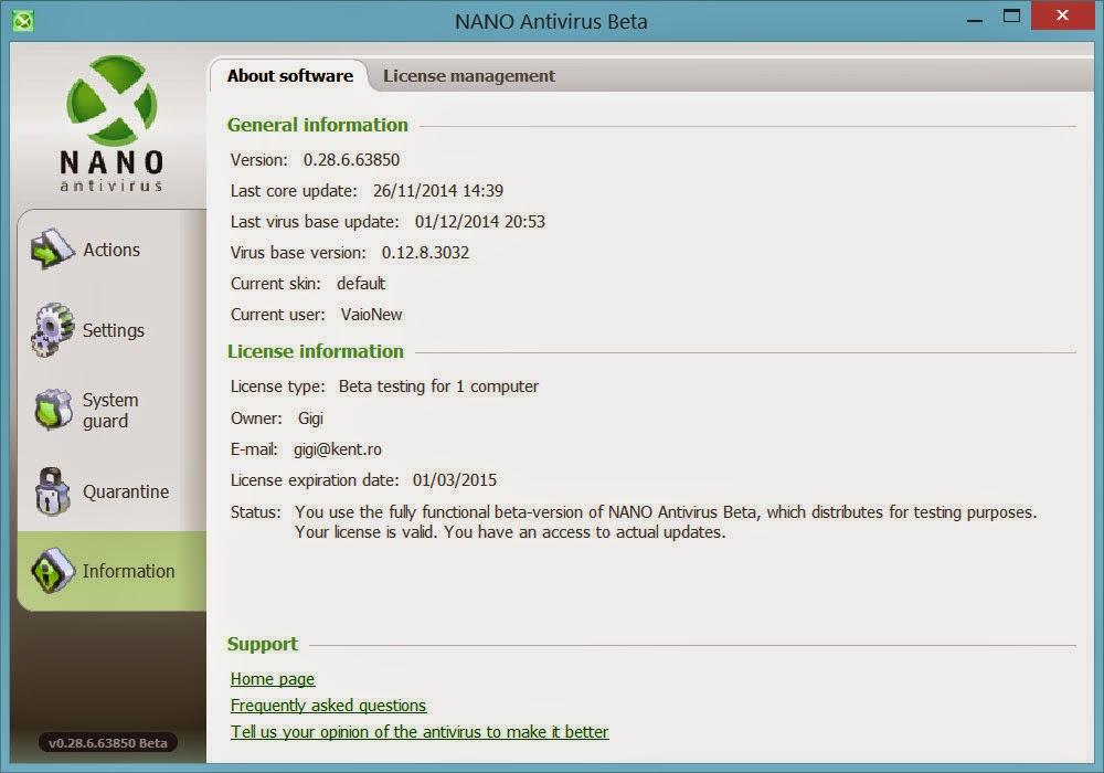 برنامج NANO AntiVirus Free 0.30.0.65070 Beta - مدونة الحماية