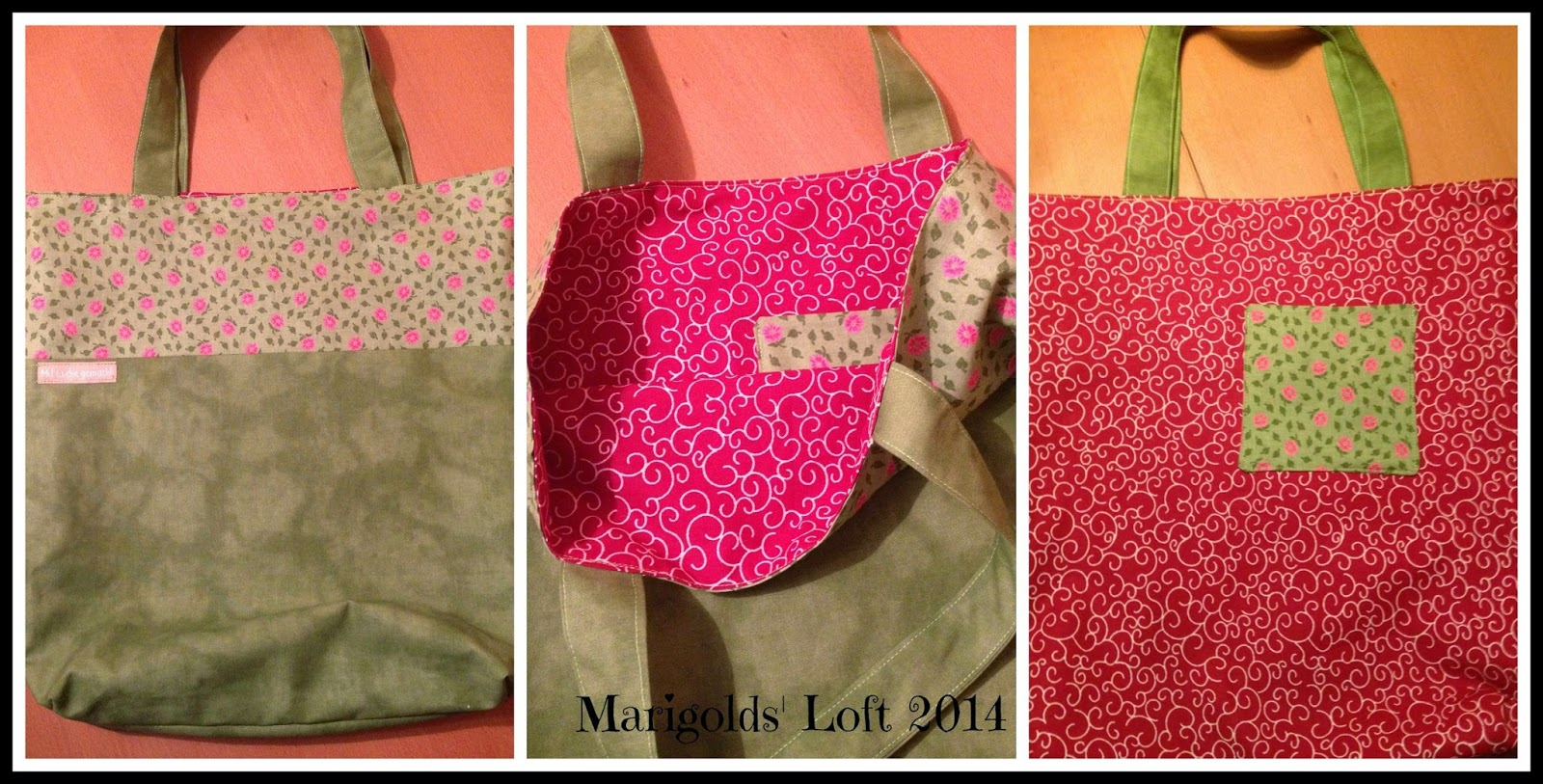 reversible tote how to