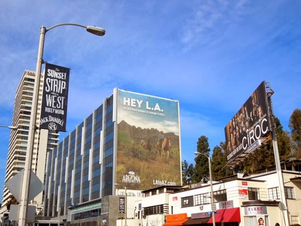 Hey LA horse riding Arizona tourism billboard