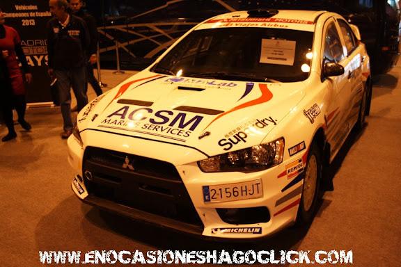 Mitsubishi evoX de rallyes en Madrid Motor Days