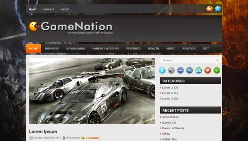 GameNation - Free Blogger Template