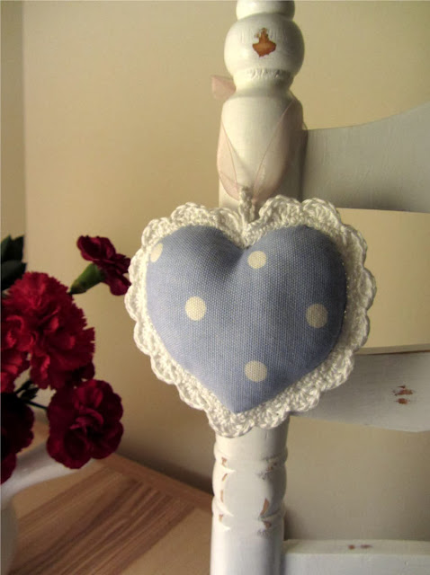 shabby chic heart decoration