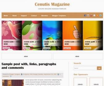 Cenutis Magazine Blogger Template